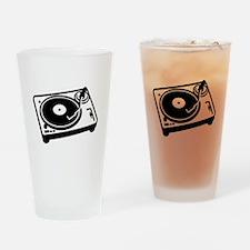 Turntable DJ Drinking Glass