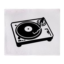 Turntable DJ Throw Blanket
