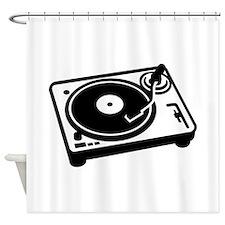 Turntable DJ Shower Curtain