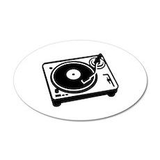 Turntable DJ Wall Decal
