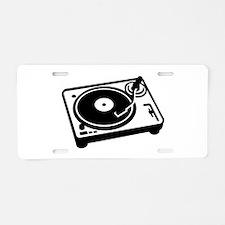 Turntable DJ Aluminum License Plate