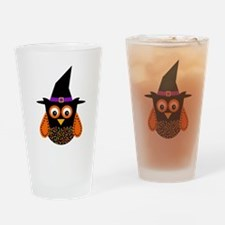Adorable Halloween Owl Drinking Glass