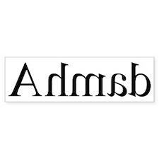 Ahmad: Mirror Bumper Bumper Sticker