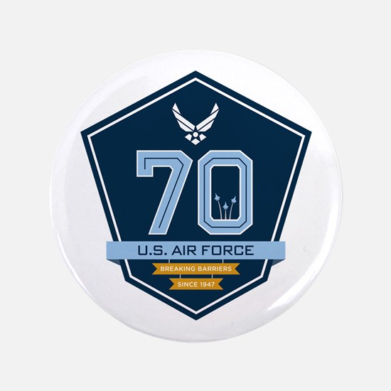 70th Anniversary U S A F Button
