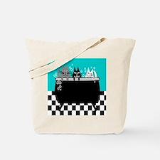 Whimsical Cat Art Tote Bag