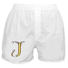 What Fun Monogram J Boxer Shorts