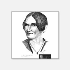 "Lydia Maria Child Square Sticker 3"" x 3"""