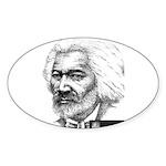Douglass with Logo.jpg Sticker (Oval)