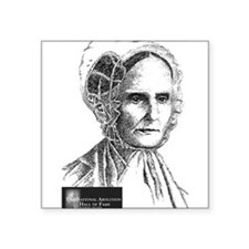 "Lucretia Coffin Mott Square Sticker 3"" x 3"""