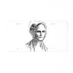 Lucretia Coffin Mott Aluminum License Plate
