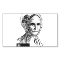Lucretia Coffin Mott Sticker (Rectangle 10 pk)
