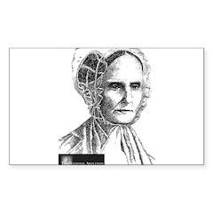 Lucretia Coffin Mott Sticker (Rectangle 10 pk)