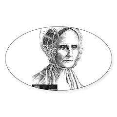 Lucretia Coffin Mott Sticker (Oval 10 pk)
