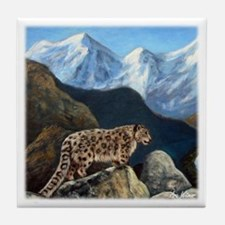Snow Leopard Tile Coaster