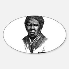 Tubman with Logo2 Sticker (Oval)
