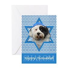 Hanukkah Star of David - Tibetan Terrier Greeting