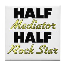 Half Mediator Half Rock Star Tile Coaster