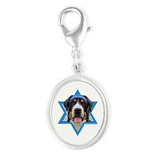 Hanukkah Star of David - Swissie Silver Oval Charm