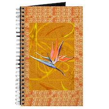 Gold Bird of Paradise Journal