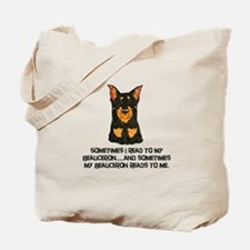 Beauceron Reader Tote Bag
