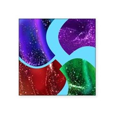 Collage, colorful Fluid, abstract Sticker
