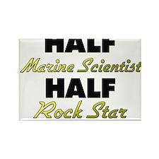 Half Marine Scientist Half Rock Star Magnets