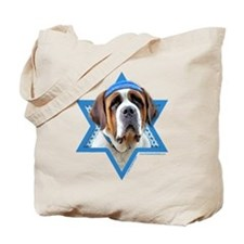 Hanukkah Star of David - St Bernard Tote Bag
