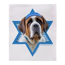 Hanukkah Star of David - St Bernard Throw Blanket