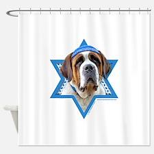 Hanukkah Star of David - St Bernard Shower Curtain