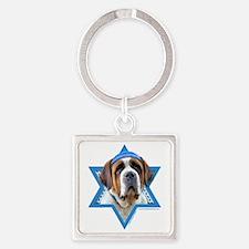 Hanukkah Star of David - St Bernard Square Keychai