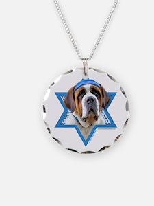 Hanukkah Star of David - St Bernard Necklace