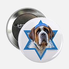 "Hanukkah Star of David - St Bernard 2.25"" Button ("