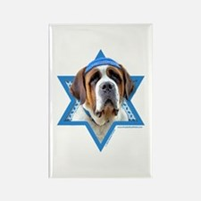 Hanukkah Star of David - St Bernard Rectangle Magn