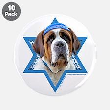 "Hanukkah Star of David - St Bernard 3.5"" Button (1"