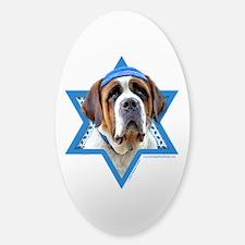 Hanukkah Star of David - St Bernard Sticker (Oval)
