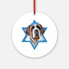 Hanukkah Star of David - St Bernard Ornament (Roun