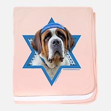 Hanukkah Star of David - St Bernard baby blanket