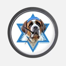 Hanukkah Star of David - St Bernard Wall Clock