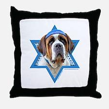 Hanukkah Star of David - St Bernard Throw Pillow
