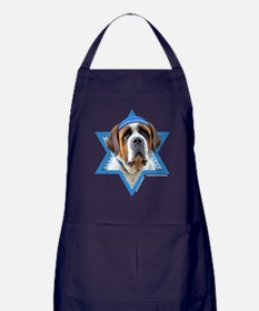 Hanukkah Star of David - St Bernard Apron (dark)
