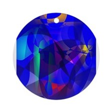 Full Moon Art Ornament (Round)
