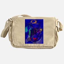 Full Moon Art Messenger Bag