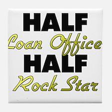 Half Loan Officer Half Rock Star Tile Coaster
