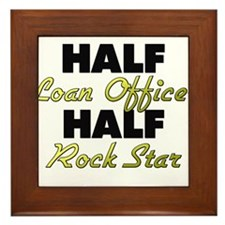Half Loan Officer Half Rock Star Framed Tile