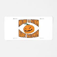Mischief Mayhem Aluminum License Plate
