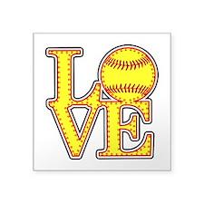 Love Softball Stitches Sticker