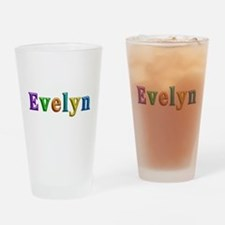 Evelyn Shiny Colors Drinking Glass