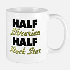 Half Librarian Half Rock Star Mugs