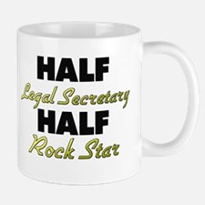 Half Legal Secretary Half Rock Star Mugs