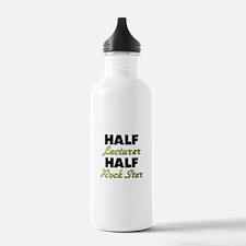 Half Lecturer Half Rock Star Water Bottle